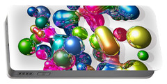 Portable Battery Charger featuring the digital art Blobs Of Fun... by Tim Fillingim