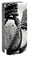Block And Tackle Of Old Sailing Ship Portable Battery Charger