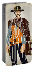 Blondie Poster From The Good The Bad And The Ugly Portable Battery Charger by Ayse Deniz