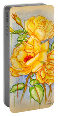 Blood Sweat And Tears Vignette Portable Battery Charger by Darren Robinson