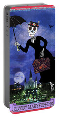 Bloody Mary Poppins Portable Battery Charger by Tammy Wetzel