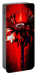 Bloody Mary Zinnia Portable Battery Charger by Sherry Allen