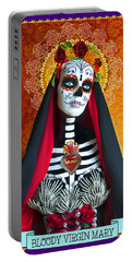 Bloody Virgin Mary Portable Battery Charger by Tammy Wetzel