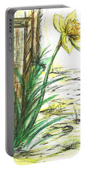 Blooming Daffodil Portable Battery Charger