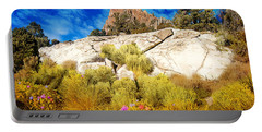 Blooming Nevada Desert Near Ely Portable Battery Charger