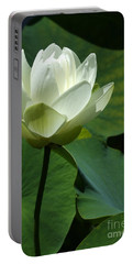 Blooming White Lotus Portable Battery Charger
