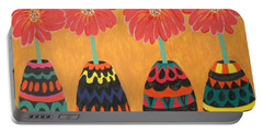 Blooms In Native Dress Portable Battery Charger