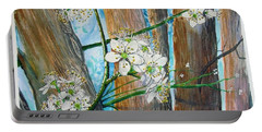 Blooms Of The Cleaveland Pear Portable Battery Charger
