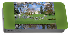 Portable Battery Charger featuring the photograph Blossom-framed House by Ann Horn