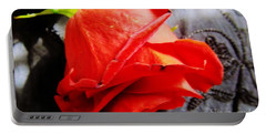 Portable Battery Charger featuring the photograph Blossoming Red by Robyn King