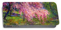 Blossoming Trees Landscape  Portable Battery Charger by Svetlana Novikova