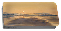 Blue Anchor Sunset Portable Battery Charger by Martin Howard