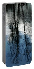 Blue And White Reflections Portable Battery Charger