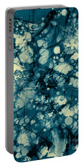 Blue And Yellow Abstraction Portable Battery Charger