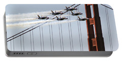 Blue Angels And The Bridge Portable Battery Charger