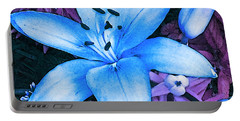Portable Battery Charger featuring the photograph Blue Asiatic Lily by Shawna Rowe