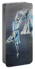 Blue Ballerina Dance Art Portable Battery Charger