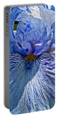 Portable Battery Charger featuring the photograph Blue Bearded Iris by Joann Copeland-Paul