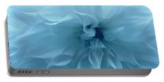 Blue Beauty - Dahlia Portable Battery Charger by Dora Sofia Caputo Photographic Art and Design