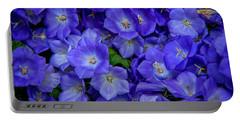 Blue Bells Carpet. Amsterdam Floral Market Portable Battery Charger