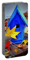 Portable Battery Charger featuring the photograph Blue Bird House by Rodney Lee Williams