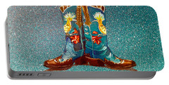 Blue Boots Portable Battery Charger by Mayhem Mediums