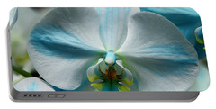 Blue Bow Orchid Portable Battery Charger