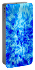 Portable Battery Charger featuring the photograph Blue Burst Of Autumn by Kellice Swaggerty