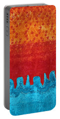Blue Canyon Original Painting Portable Battery Charger by Sol Luckman