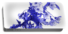 Portable Battery Charger featuring the photograph Blue Cherry by Jane McIlroy