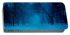 Blue Chicago Blizzard  Portable Battery Charger
