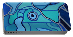 Blue Chicken Abstract Portable Battery Charger