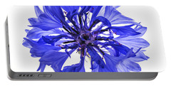 Blue Cornflower Flower Portable Battery Charger