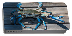 Blue Crab Pincher Portable Battery Charger