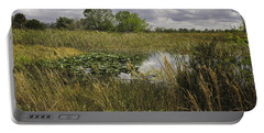 Blue Cypress Wetlands Portable Battery Charger by Fran Gallogly