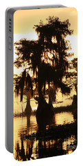 Blue Cypress Yellow Light Portable Battery Charger by Paul Rebmann