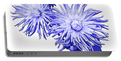 Portable Battery Charger featuring the photograph Blue Dahlia by Jane McIlroy