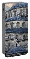 Blue Dawn Blue Mosque Portable Battery Charger by Joan Carroll
