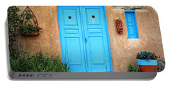 Blue Doors Of Taos Portable Battery Charger