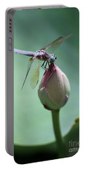 Blue Dragonflies Love Lotus Buds Portable Battery Charger