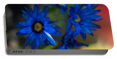 Blue Dyed Daisies  Portable Battery Charger