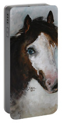 Portable Battery Charger featuring the painting Razzle  by Barbie Batson