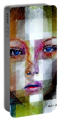Blue Eyes Girl Portable Battery Charger by Rafael Salazar