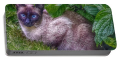 Portable Battery Charger featuring the photograph Blue Eyes - Signed by Hanny Heim