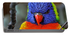 Blue Faced Rainbow Lorikeet Parrot Portable Battery Charger
