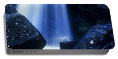 Portable Battery Charger featuring the photograph Blue Falls by Rodney Lee Williams