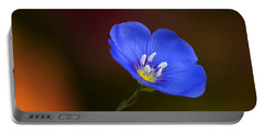 Blue Flax Blossom Portable Battery Charger
