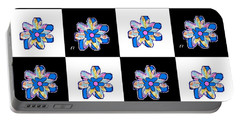 Blue Flower Dance Portable Battery Charger