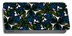 Portable Battery Charger featuring the digital art Blue Flowers by Elizabeth McTaggart