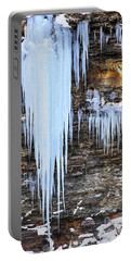 Blue Frozen Icicle Stalactites Portable Battery Charger